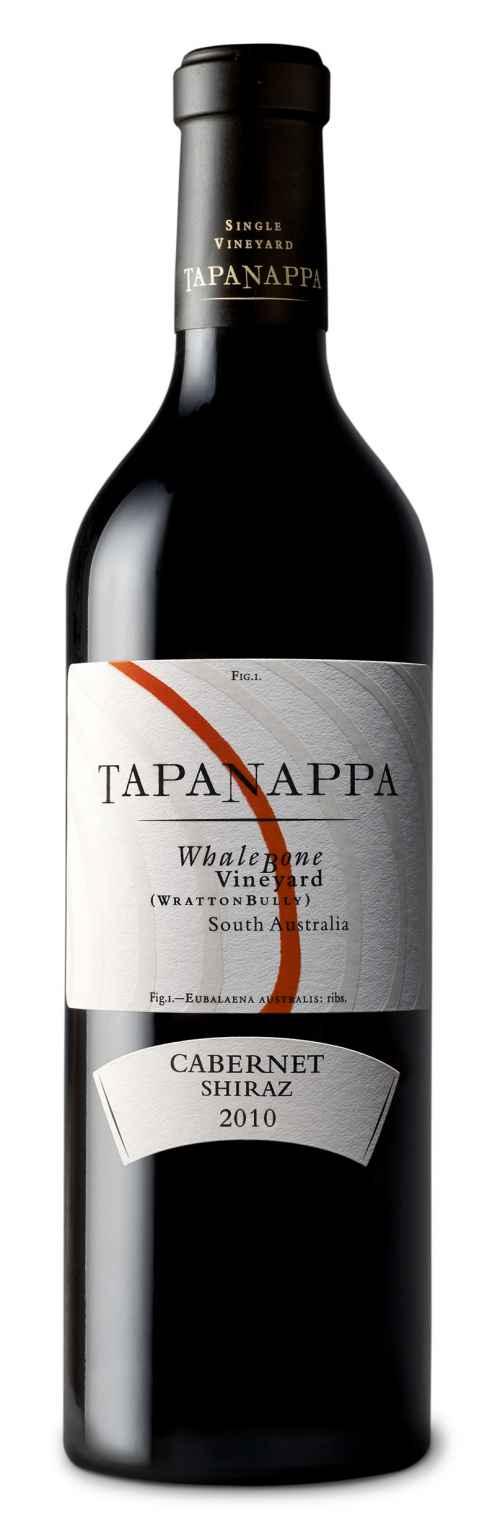 Tapanappa Whalebone Vineyard 2010 Cabernet Shiraz bottle shot
