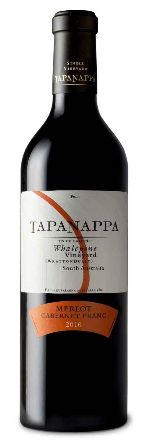 Tapanappa Whalebone Vineyard 2010 Merlot Cabernet Franc bottle shot