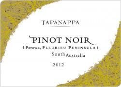 Tapanappa 2012 Fleurieu Peninsula Pinot Noir label