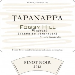 Tapanappa Foggy Hill Vineyard 2013 Pinot Noir label