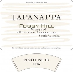 Tapanappa Foggy Hill Vineyard 2016 Pinot Noir label