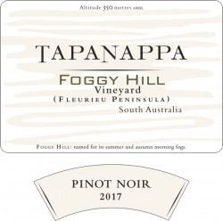 Tapanappa Foggy Hill Vineyard 2017 Pinot Noir label