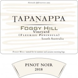 Tapanappa Foggy Hill Vineyard 2018 Pinot Noir label