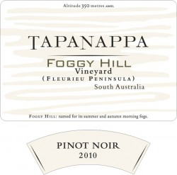 Tapanappa Foggy Hill Vineyard 2012 Pinot Noir label