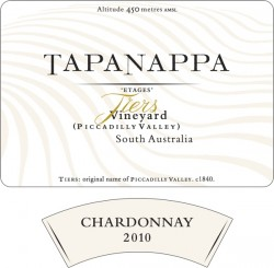 Tapanappa 2010 Tiers Vineyard Chardonnay label
