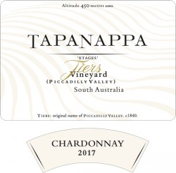 Tapanappa Tiers Vineyard 2017 Chardonnay label