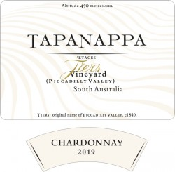 Tapanappa Tiers Vineyard 2019 Chardonnay label