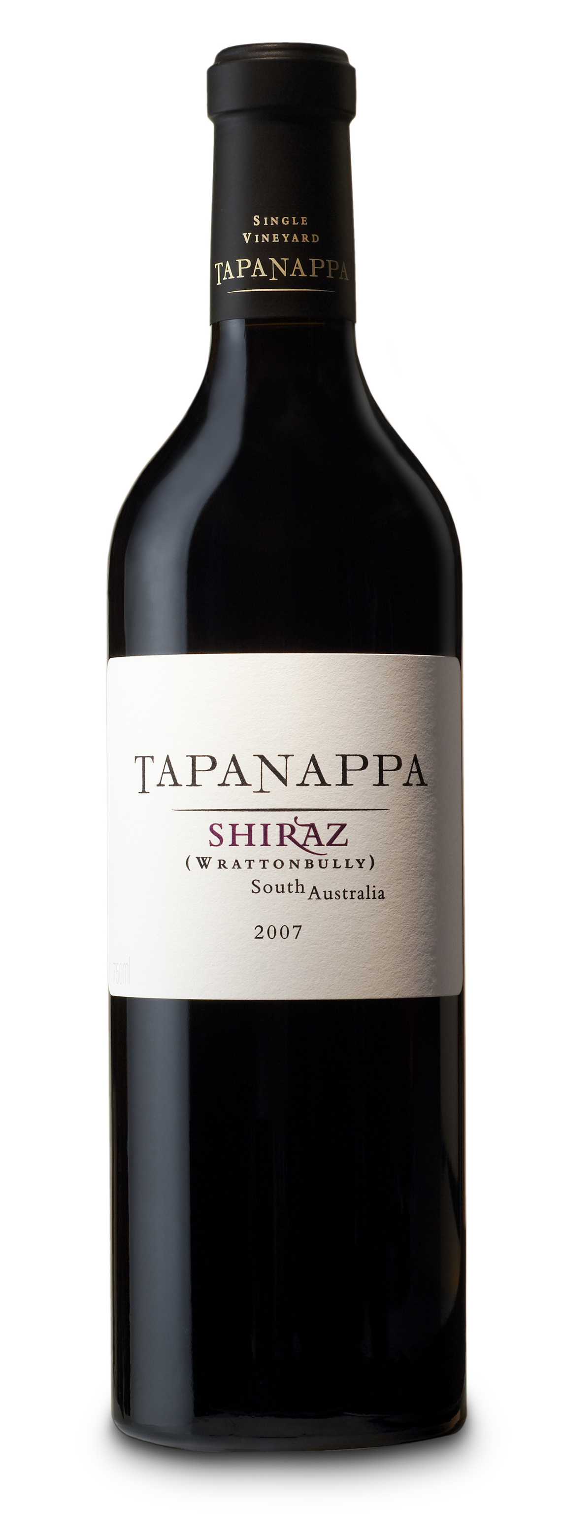 Tapanappa 2007 Wrattonbully Shiraz bottleshot