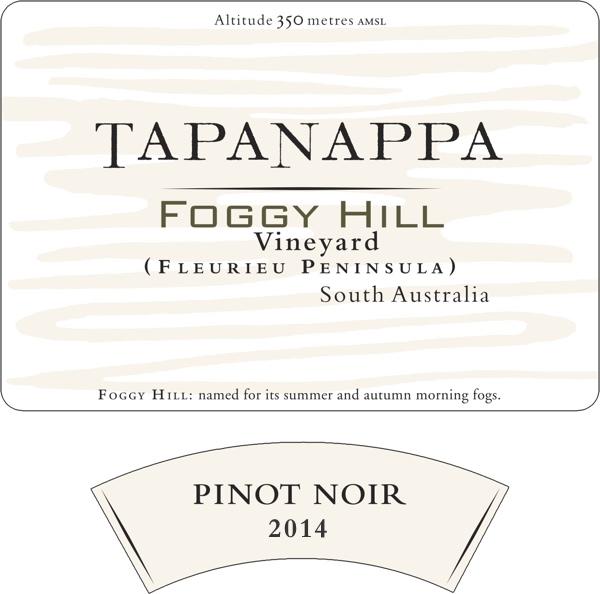 Tapanappa Foggy Hill Vineyard 2014 Pinot Noir label