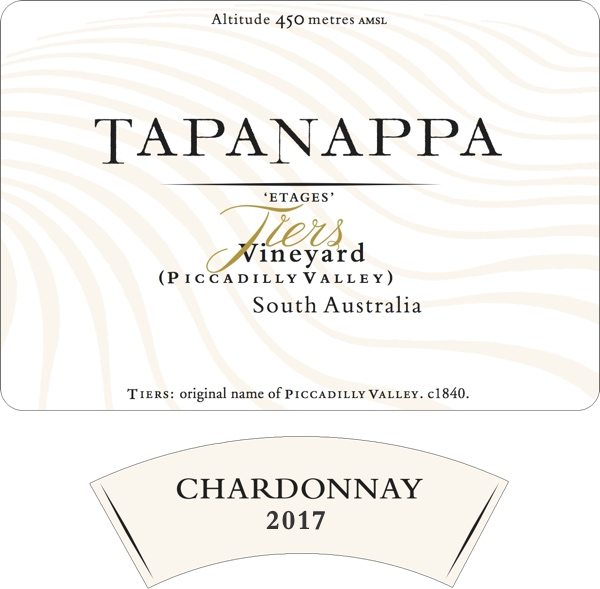 Tapanappa Tiers Vineyard 2017 Chardonnay label
