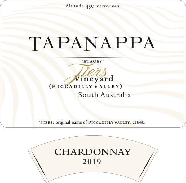 Tapanappa Tiers Vineyard 2019 Chardonnay label