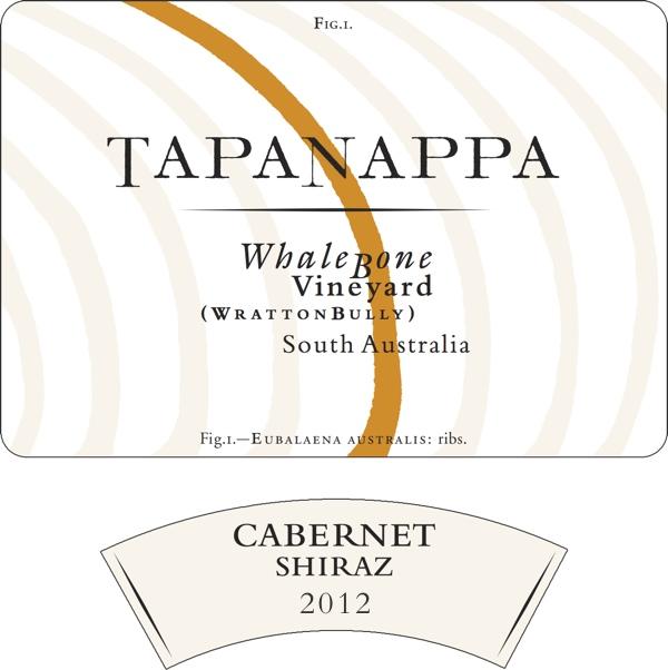 Whalebone Vineyard 2012 Cabernet Shiraz label