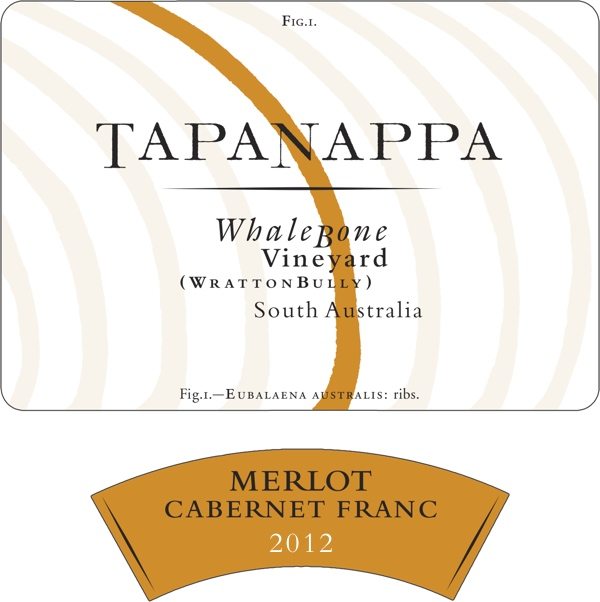 Tapanappa Whalebone Vineyard 2012 Merlot Cab Franc label