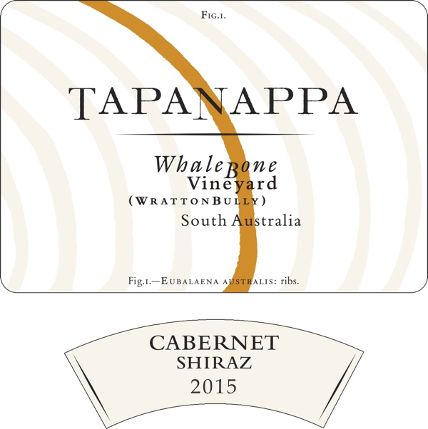 Tapanappa Whalebone Vineyard 2015 Cabernet Shiraz label