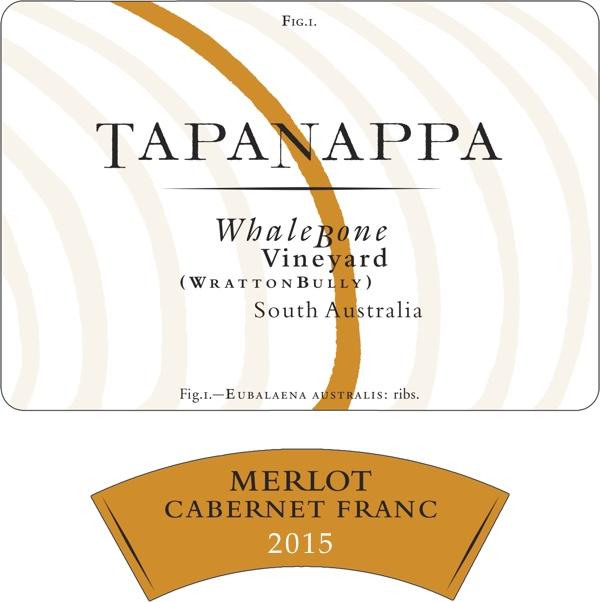Tapanappa Whalebone Vineyard 2015 Merlot Cabernet Franc Label
