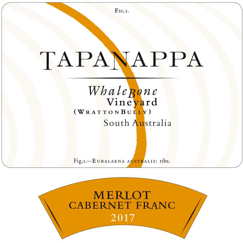 Tapanappa Whalebone Vineyard 2017 Merlot Cabernet Franc Label