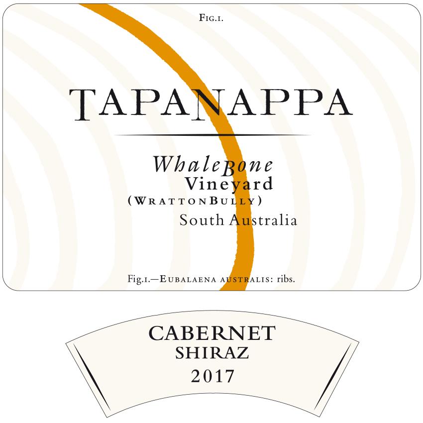 Tapanappa Whalebone Vineyard 2017 Cabernet Shiraz Label