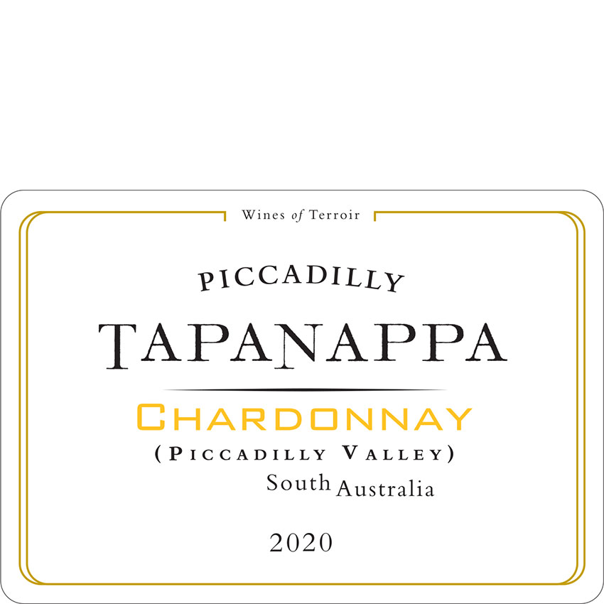 Tapanappa Piccadilly Valley 2020 Chardonnay Label
