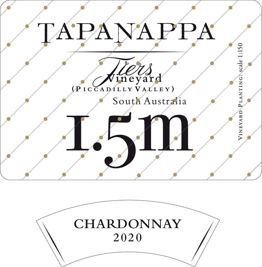 Tapanappa Tiers Vineyard 1.5m 2020 Chardonnay label