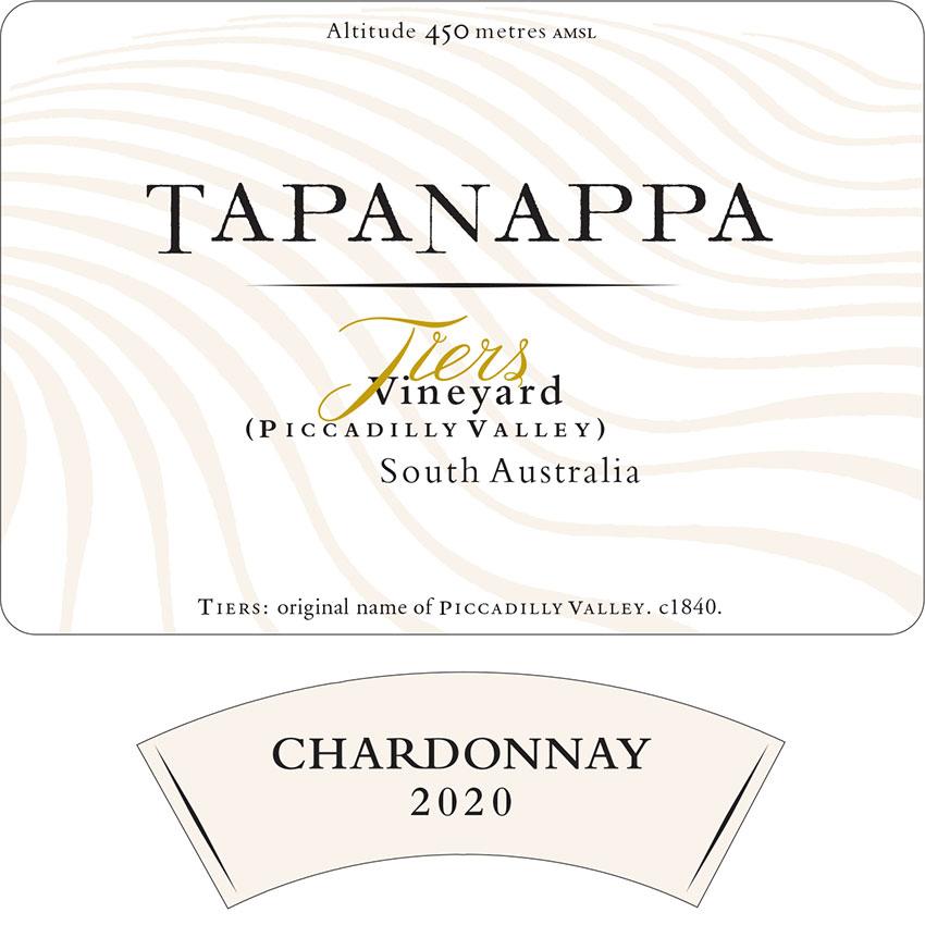 Tapanappa Tiers Vineyard 2020 Chardonnay Label